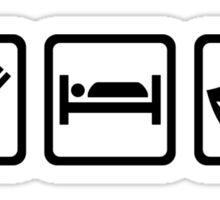 Eat sleep theater masks Sticker