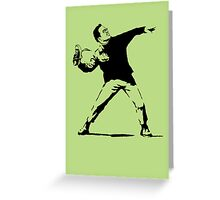 Shoe Thrower BP2 Greeting Card