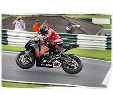 Leon Haslam on his HM Plant Honda Fireblade during the 2008 British superbike championship Poster