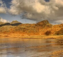 The Langdales Pikes Panorama, The Lake District by Steve  Liptrot