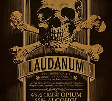 Laudanum Medical Goth Steampunk Label by Carl Huber