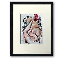 Abstract Charcoal Nude 3 Framed Print