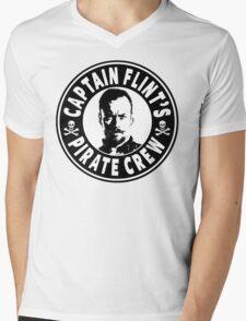 Captain Flints Pirate Crew Mens V-Neck T-Shirt