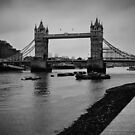 Tower Bridge B&W by Jakov Cordina