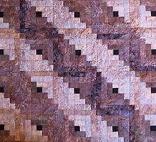 """Winter Leaves"" Log Cabin Quilt by Jean Gregory  Evans"