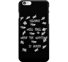 Doctor Who - Silence Will Fall When the Question is Asked iPhone Case/Skin