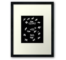 Doctor Who -Silence Will Fall Framed Print