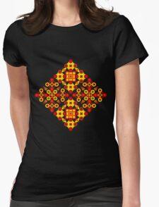 Vivid geometrical ornament  Womens Fitted T-Shirt