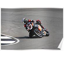 Leon Haslam, HM Plant Honda Fireblade, 2008 British superbikes Poster