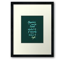 Harry Potter - Dumbledore Quote  Framed Print