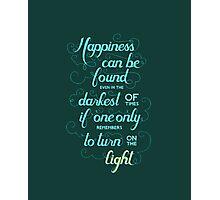 Harry Potter - Dumbledore Quote  Photographic Print