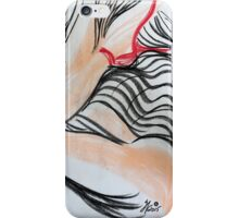 Abstract Charcoal Nude 4 iPhone Case/Skin