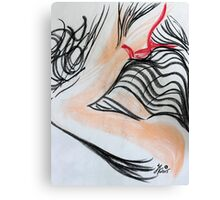 Abstract Charcoal Nude 4 Canvas Print