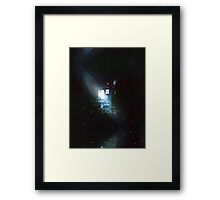 doctor who - tardis & galaxy Framed Print