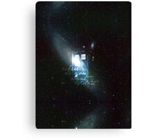doctor who - tardis & galaxy Canvas Print