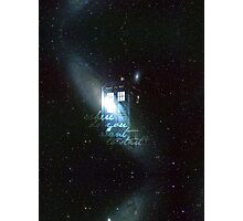 doctor who - tardis & galaxy Photographic Print