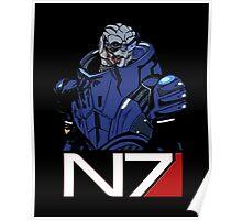 Mass Effect - Garrus Vakarian N7 Symbol Poster