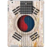Old Vintage Acoustic Guitar with South Korean Flag iPad Case/Skin