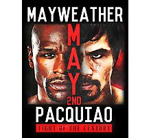 Floyd Mayweather VS Manny Pacquiao shirt, poster, and more Photographic Print