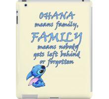 Lilo & Stitch - Ohana Family Quote iPad Case/Skin