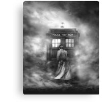 Doctor Who- the Doctor and the Mist Canvas Print