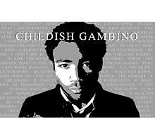 Childish Gambino Discography Photographic Print