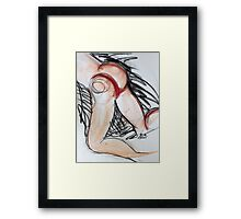 Abstract Charcoal Nude 5 Framed Print
