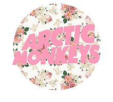 arctic monkeys flower logo (pink) by crowleying