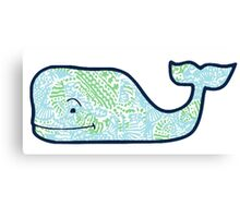 Vineyard Vines Whale Lilly Print 4 Canvas Print