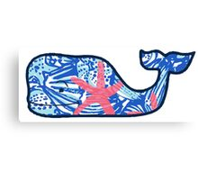 Vineyard Vines Whale Lilly Print 5 Canvas Print