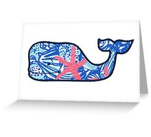 Vineyard Vines Whale Lilly Print 5 Greeting Card