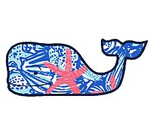Vineyard Vines Whale Lilly Print 5 Photographic Print