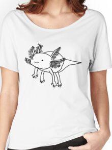 cute happy floaty axolotol print Women's Relaxed Fit T-Shirt