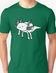 cute happy floaty axolotol print T-Shirt