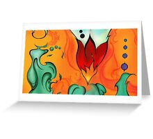 (Im)balanced Flame' Mini Greeting Card