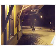 A Quiet And Cold Snow In The Glow of Kingston RR Station *featured Poster