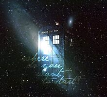 doctor who - tardis & galaxy by crowleying