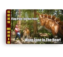 SexyMario MEME - Flag Pole In The Front, Warp Zone In The Rear! 1 Canvas Print