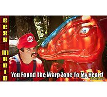 SexyMario MEME - You Found The Warp Zone To My Heart 2 Photographic Print