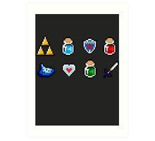 Zelda Items Art Print