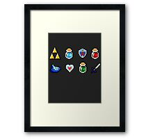 Zelda Items Framed Print