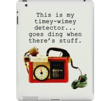 Timey Wimey Detector, Doctor Who iPad Case/Skin