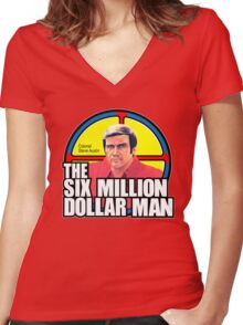 Six Million Dollar Man Women's Fitted V-Neck T-Shirt