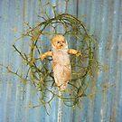 Thorn Cradle Doll Assemblage  by uglyshyla