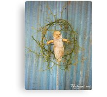 Thorn Cradle Doll Assemblage  Canvas Print