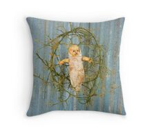 Thorn Cradle Doll Assemblage  Throw Pillow