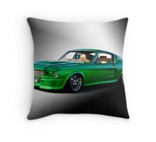 1965 Ford Mustang Fastback I Throw Pillow