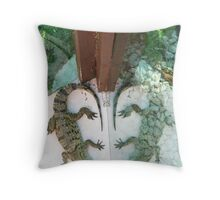 Alligator Reflection in Glass * Throw Pillow