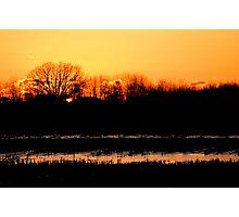 Lasting Winter Sunset Photographic Print
