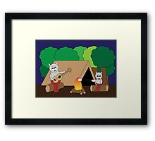 Cats Camping Framed Print
